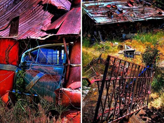 Junk Castle, созданный из старых автомобилей за 500 долларов