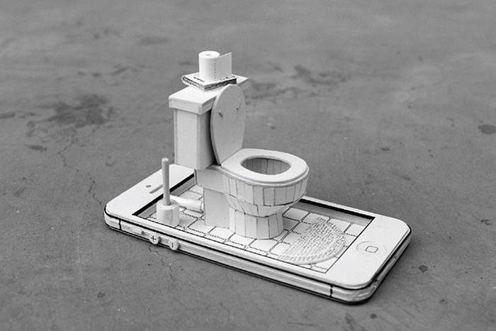 Ordinary Behavior – миниатюрные диорамы от Kevin LCK внутри техники