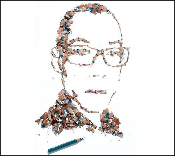 Рисунки из карандашей, а не карандашами от Кайла Бина (Kyle Bean)