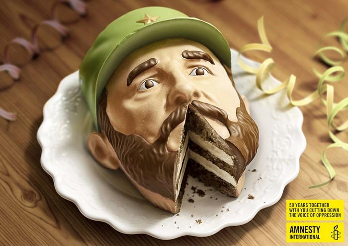 Торты-диктаторы к 50-летию Amnesty International