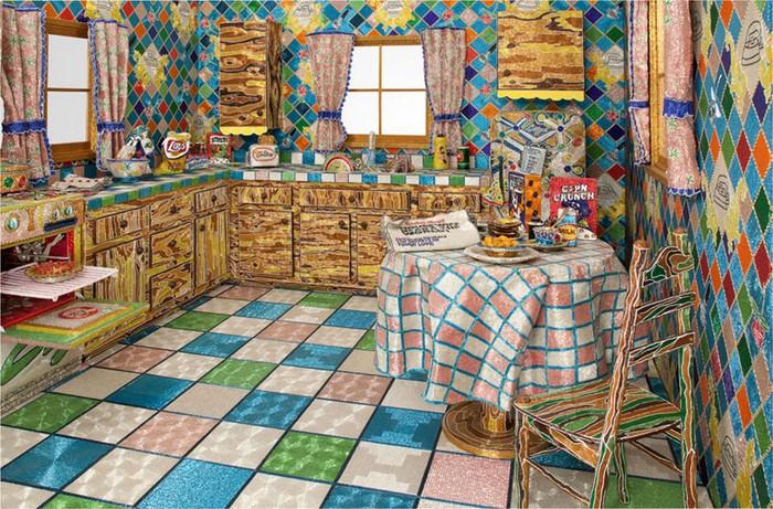 Kitchen. Невероятные картины из бисера от Лизы Лоу (Liza Lou)