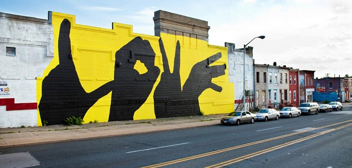 Baltimore Love Project – самые романтичные граффити в мире от Майкла Оуэна (Michael Owen)