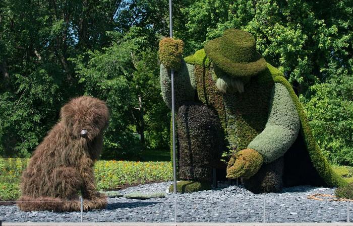 Зеленые садово-парковые скульптуры на выставке Mosaicultures Internationales Montreal 2013