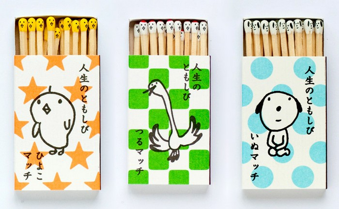 Kokeshi Matches – живопись на спичечных головках от Хироми Хиросаки (Hiromi Hirasaka)