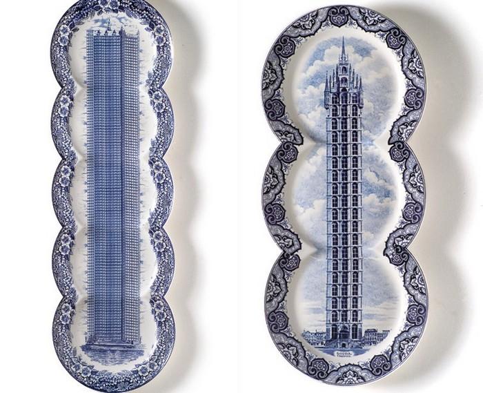 Тарелки-панорамы от Максиме Ансиэу (Maxime Ansiau)