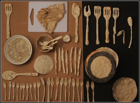 Хлебный стол – инсталляция от Андере Монжо (Andere Monjo)