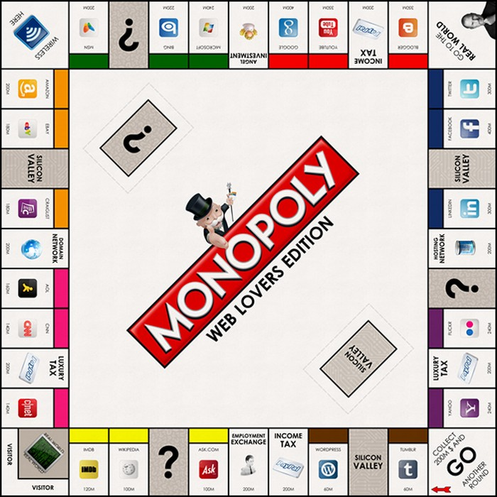 Monopoly: web lovers edition  – Монополия для интернетчиков
