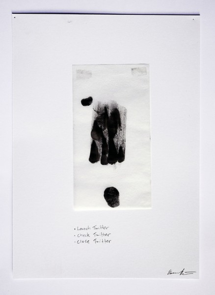 Launch twitter. Check twitter. Close twitter, Multi-touch Finger Paintings, Evan Roth