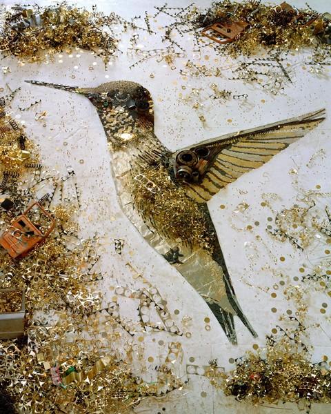 Hummingbird. Серия Scrap Metal от Вика Муниса (Vik Muniz)