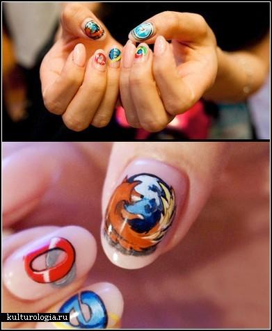 Креативные рисунки на ногтях