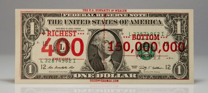 Occupy George – антикапиталистические доллары в рамках акции Захвати Уолл-Стрит