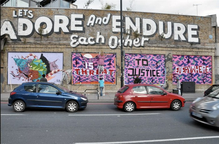 Injustice - в'язані графіті проти рабства
