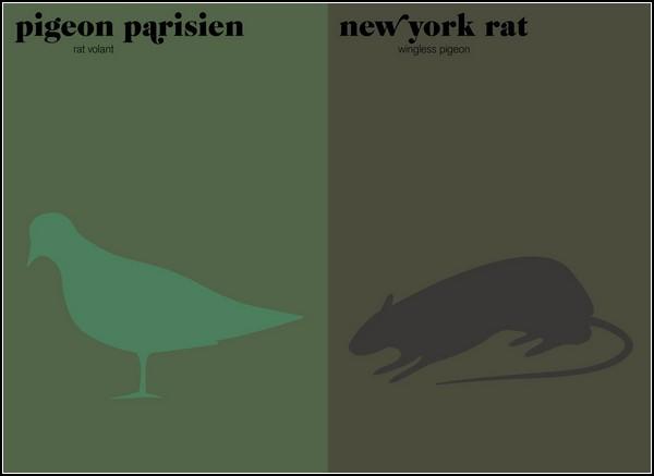 Париж против Нью-Йорка. Серия сравнительных иллюстраций