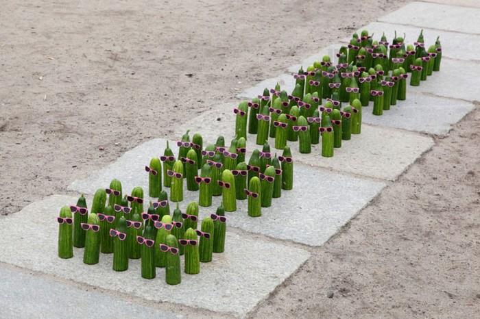 Cъедобные уличные инсталляции от Петера Пинка (Peter Pink)