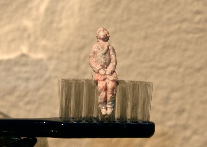 Toothpaste Portrait. Съедобные произведения искусства от Казуки Гузмана (Kazuki Guzman)
