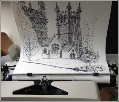 Рисунки на пишущей машинке от Киры Ратбон (Keira Rathbone)