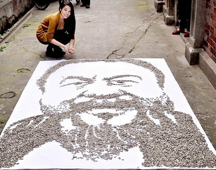 Портрет художника Аи Вейвея от Хун И (Hong Yi)
