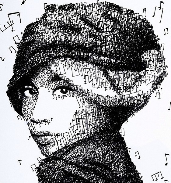 Портрет певицы Юны от Хун И (Hong Yi)