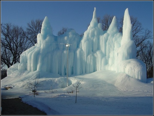 Ледяные замки от системы отопления дома