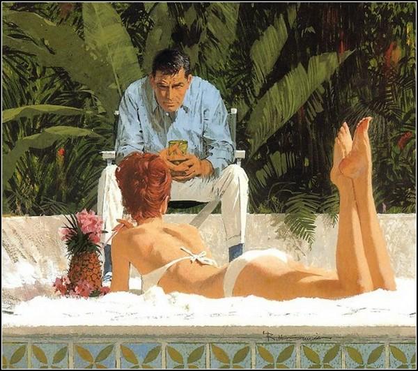 Классические иллюстрации Роберта МакГинниса (Robert McGinnis)
