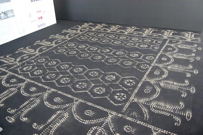 Sand Carpets - песчаные узоры на настоящих коврах