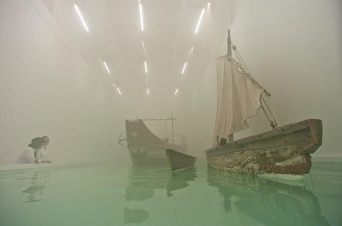 Endless, Cai Guo-qiang, Выставка Saraab, Арабский Музей современного искусства в Катаре
