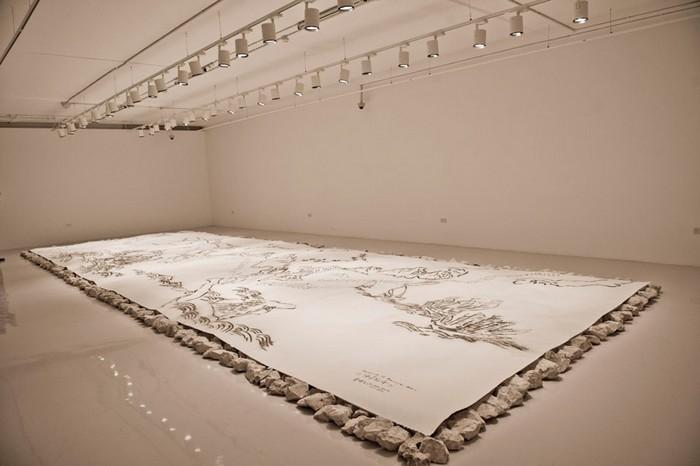 Route, Cai Guo-qiang, Выставка Saraab, Арабский Музей современного искусства в Катаре