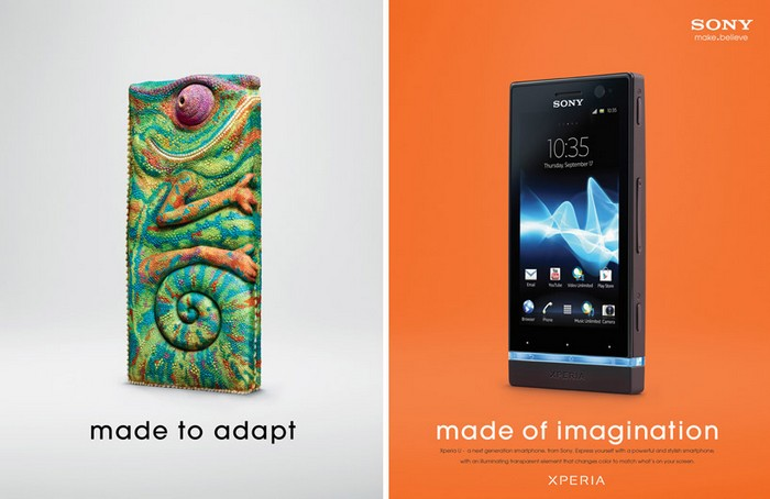 Made of imagination – креативная реклама Sony Xperia