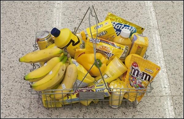 Shopping Per Color: цветовая дифференциация … еды