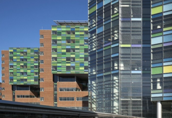 Больница-коллаж Johns Hopkins Hospital от Спенсера Финча (Spencer Finch)