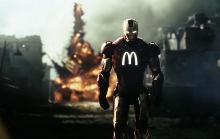 Железный Человек под маркой McDonald's. Проект Sponsored Superheroes от Роберто Вергати Сантоса (Roberto Vergati Santos)