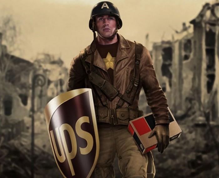 Стивен Роджерс – курьер UPS. Проект Sponsored Superheroes от Роберто Вергати Сантоса (Roberto Vergati Santos)