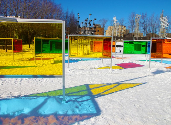 Stained Glass Park – парк из стекла и цвета в Монреале