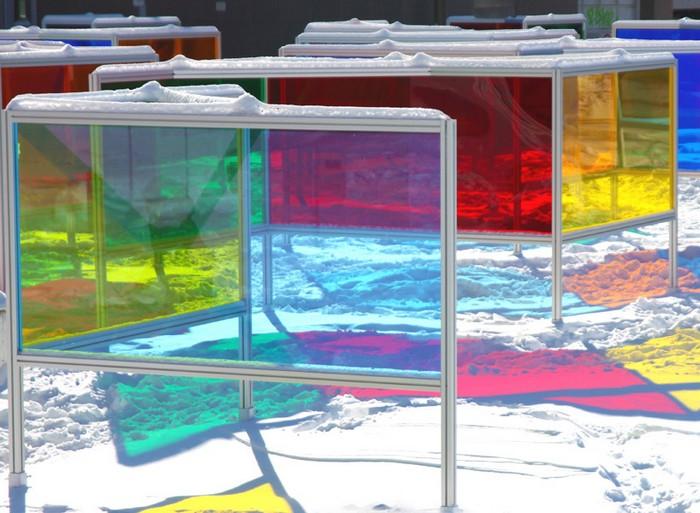 Stained Glass Park – парк из стекла и цвета в Монреале