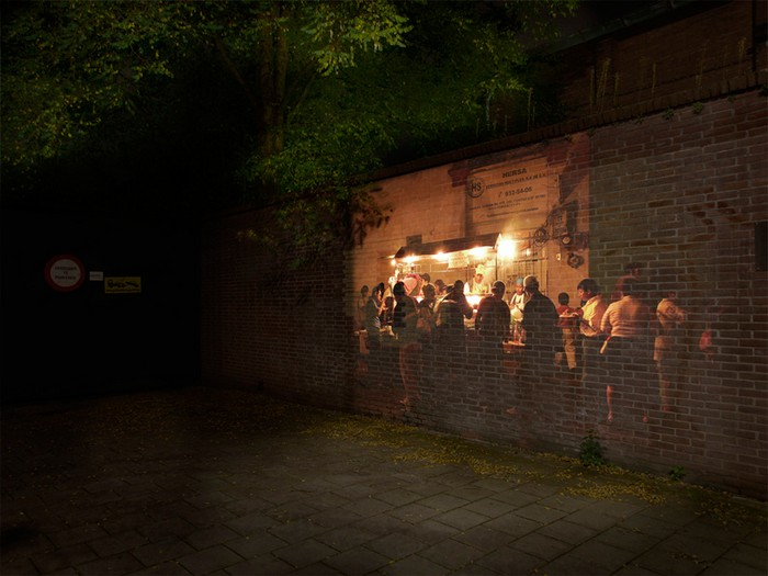Азиатский фаст-фут на темных улицах Эйндховена. Видеоинсталляции от Хорхе Маньеса Рубио (Jorge Manes Rubio)