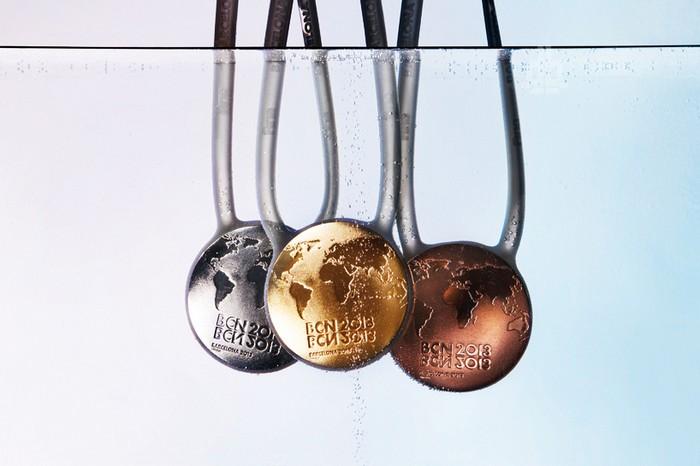 Медали Чемпионата мира по плаванию от дизайнерской студии Lagranja