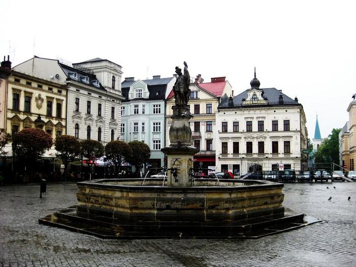 Центральная площадь польской части города Цешин