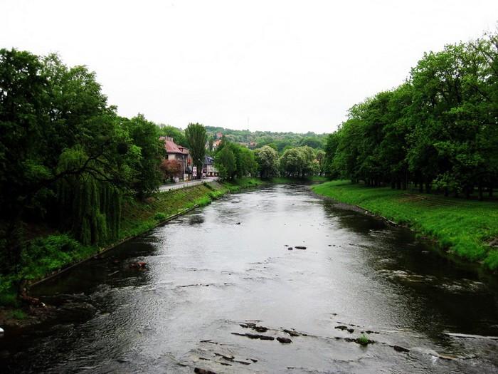 Река Олше, по которой проходит граница между Польшей и Чехией