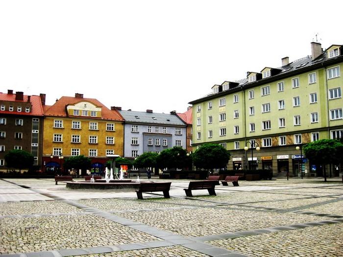 Центральная площадь города Чески-Тешин, чешской части Цешина