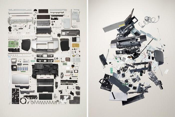 Принтер, проект Things Come Apart от Тодда Маклеллана (Todd McLellan)