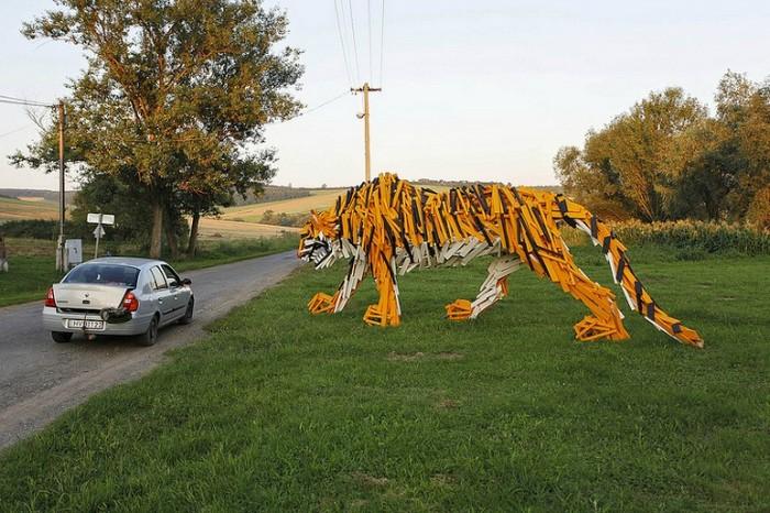 Венгерский деревянный тигр от Габора Шока (Gabor Szoke)