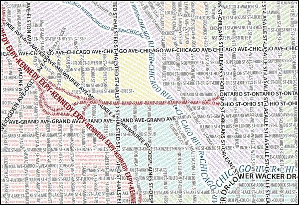 Типографические карты от Axis Maps