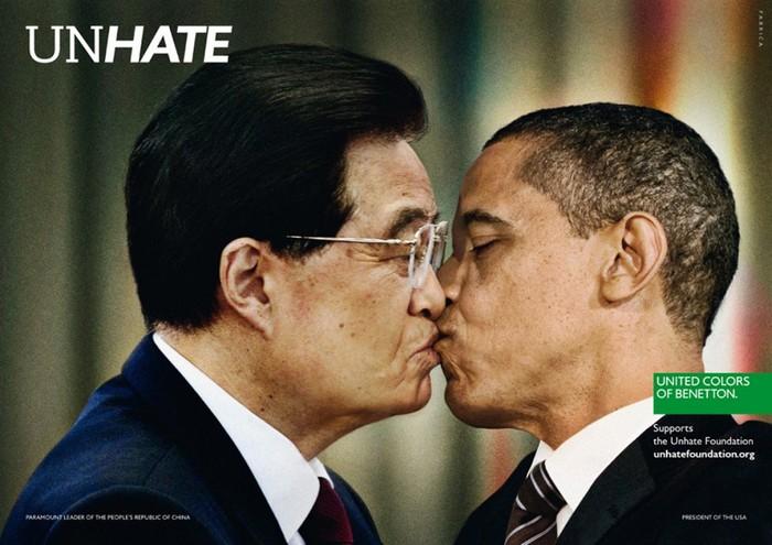 Лидер Китая Ху Дзиньтао и Барак Обама, Unhate, United Colors of Benetton