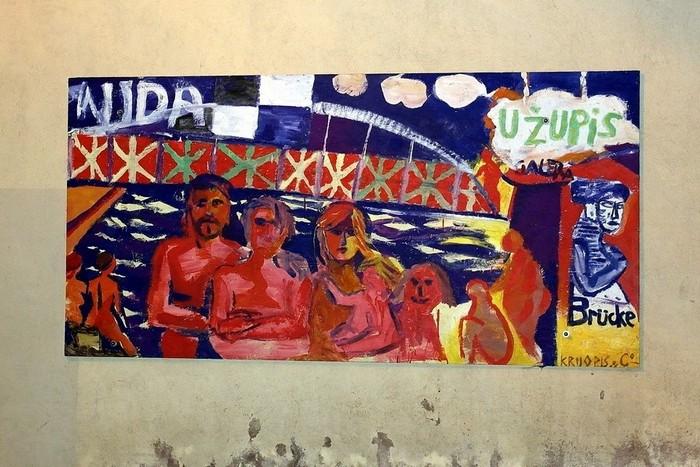 Искусство на улицах Ужуписа