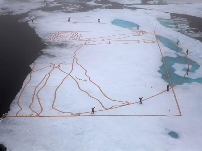 Витрувианский человек против таяния льдов