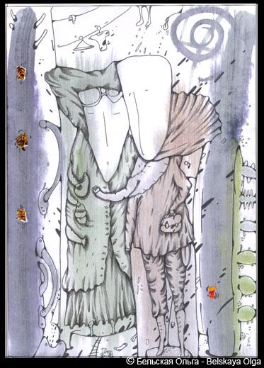 Рисование в технике монотопии: работы Ольги Бельской.
