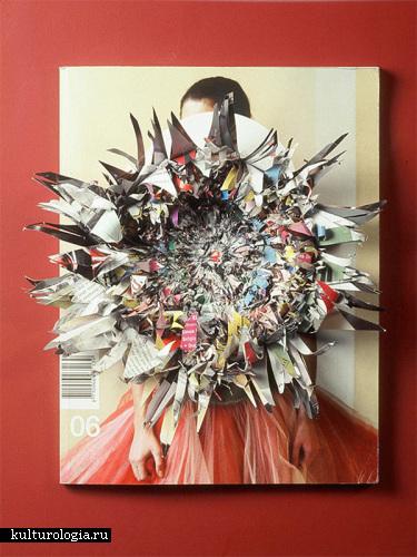 Что можно сделать из старых журналов: творчество Christopher Coppers