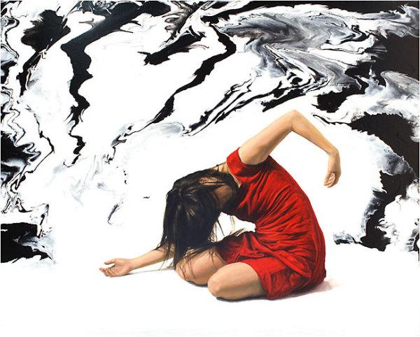Многие картины DeAngel довольно абстрактны