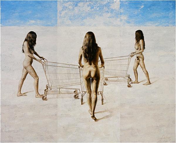 Многие картины DeAngel - чистый сюрреализм, но всегда про женщин