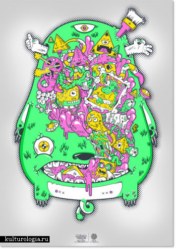 Корпорация монстров и мутантов художника Diogo Machado